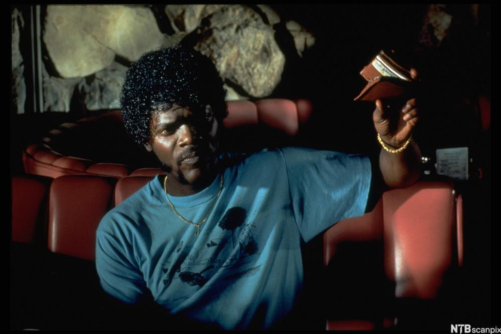Samuel L. Jackson spiller en av de mange skurkene  i Pulp Fiction
