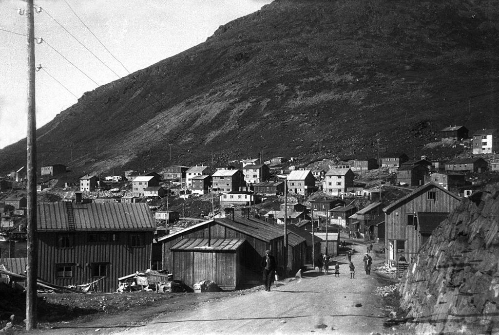 Boliger i Honningsvåg 1948. Foto.