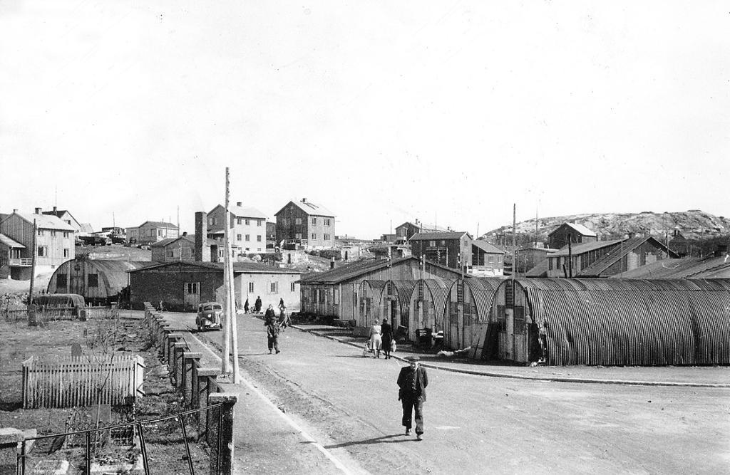 Kirkenes etter krigen 1948. Foto.