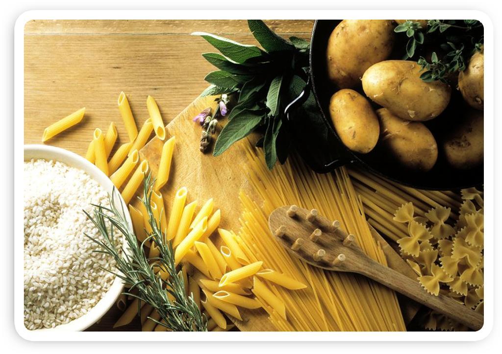 Matvaregruppe: poteter, pasta og ris.Foto.