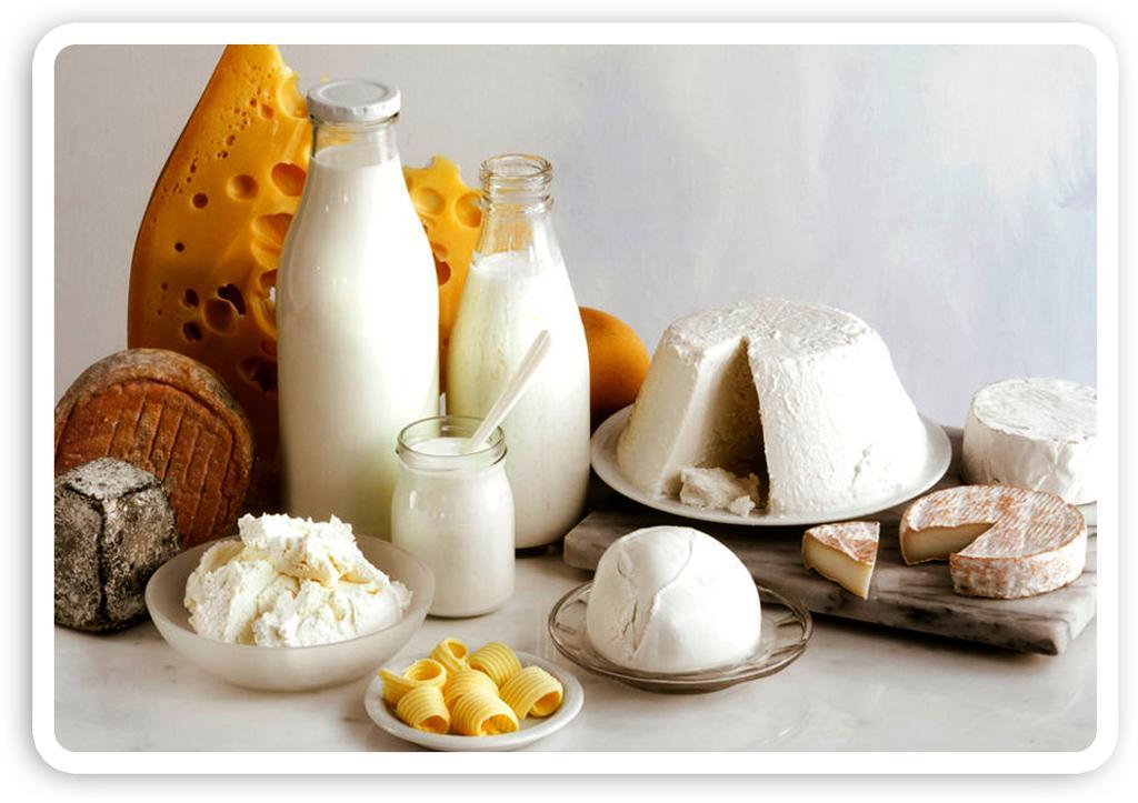 Matvaregruppe: melk og melkeprodukter. Foto.