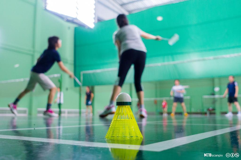 Badmintonspillere i konkurranse. Foto.