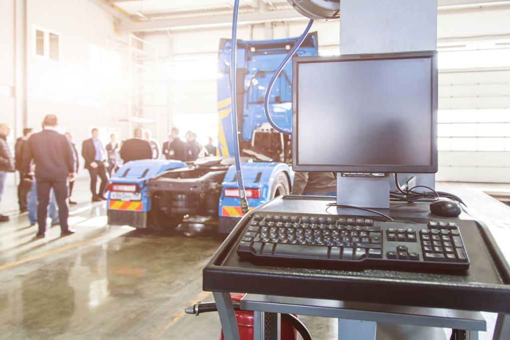Datamaskin for selvbetjening. Foto.