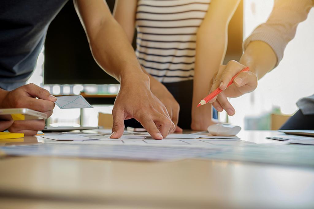 Samarbeid om utvikling av merkevare. Foto.