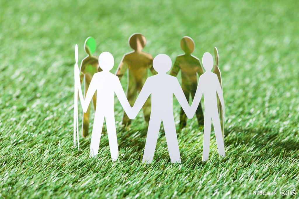 Illustrasjon gruppe mennesker. Foto