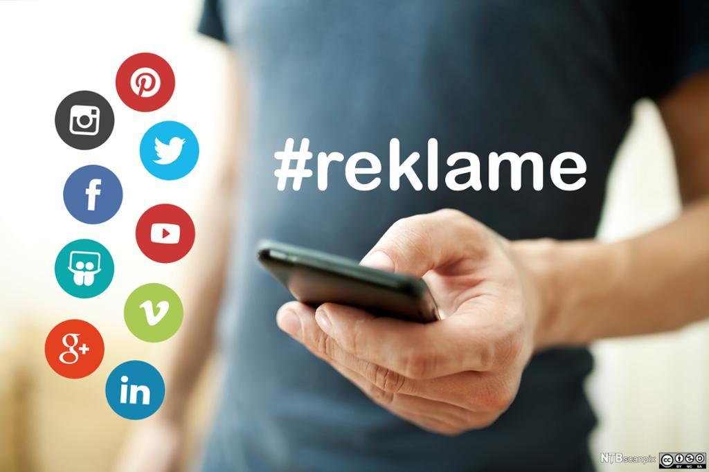 Ikoner av sosiale medier app'er på mobilskjerm. Foto.