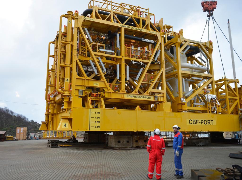 Åsgard subsea kompressor. Foto.
