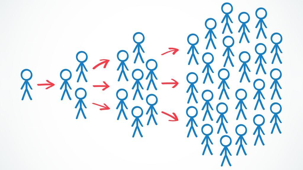 Figur som viser tostegshypotesen. Illustrasjon.