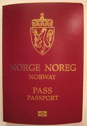bildet viser et norsk pass