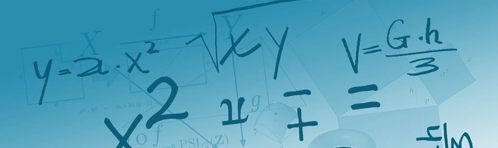 Mange matematiske symboler og formler tilfeldig spredt utover. Illustrasjon.