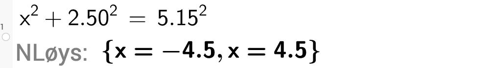 x i andre+2,5 i andre \