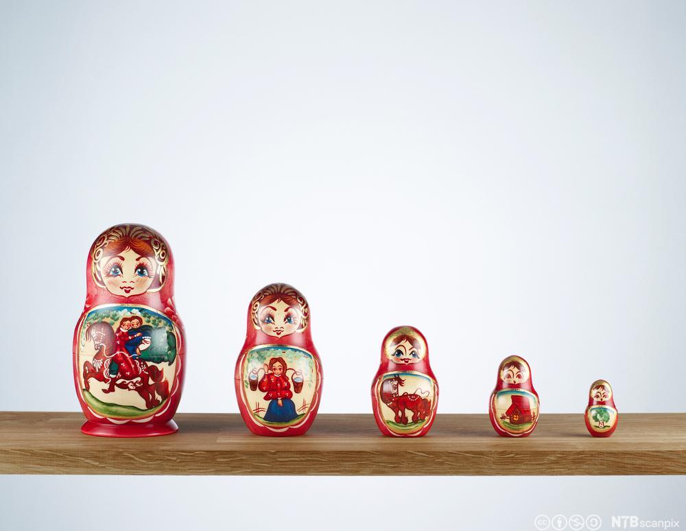 Russiske dukker. Foto.