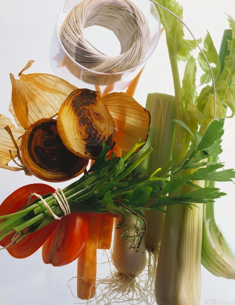 Grønnsaker og urter til kraft.foto.