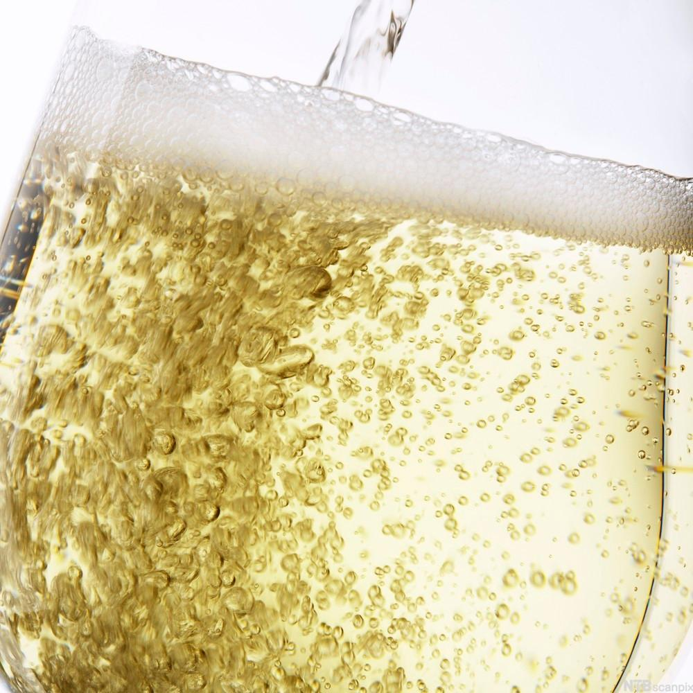 Glass med musserende vin