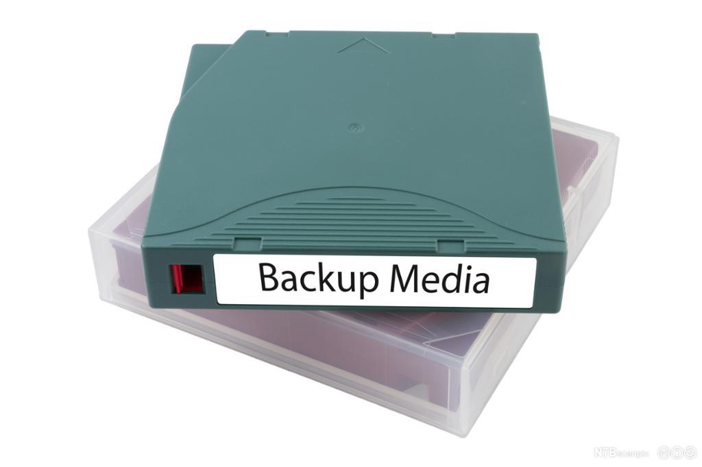 Sikkerhetskopiering av data. Foto.