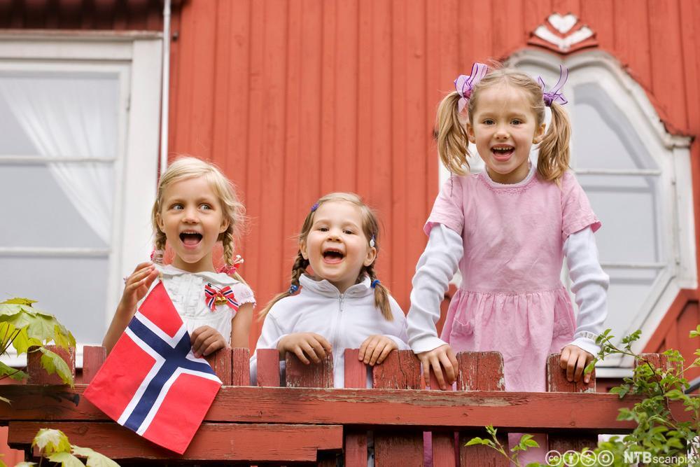 17. mai feiring i barnehagen. Foto.