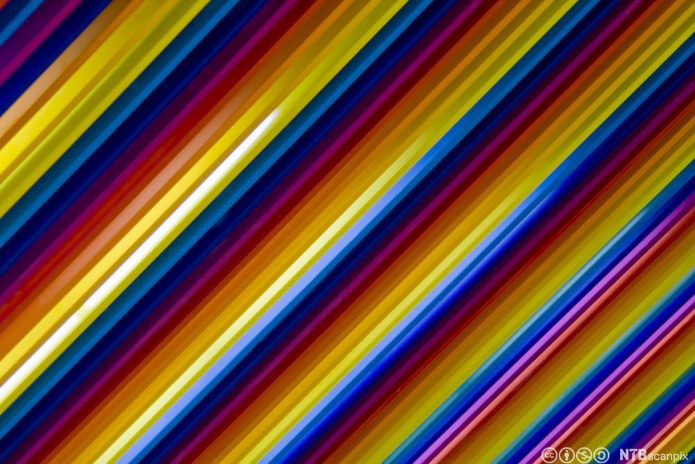 Striped rainbow pattern. Photo.