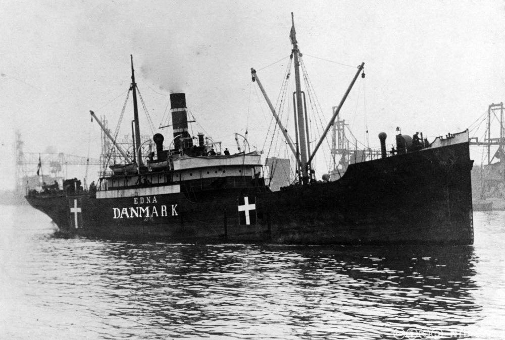 """Det danske skipet """"Etna"""" skulle beskytte mot tyske ubåter under første verdenskrig. Foto."""
