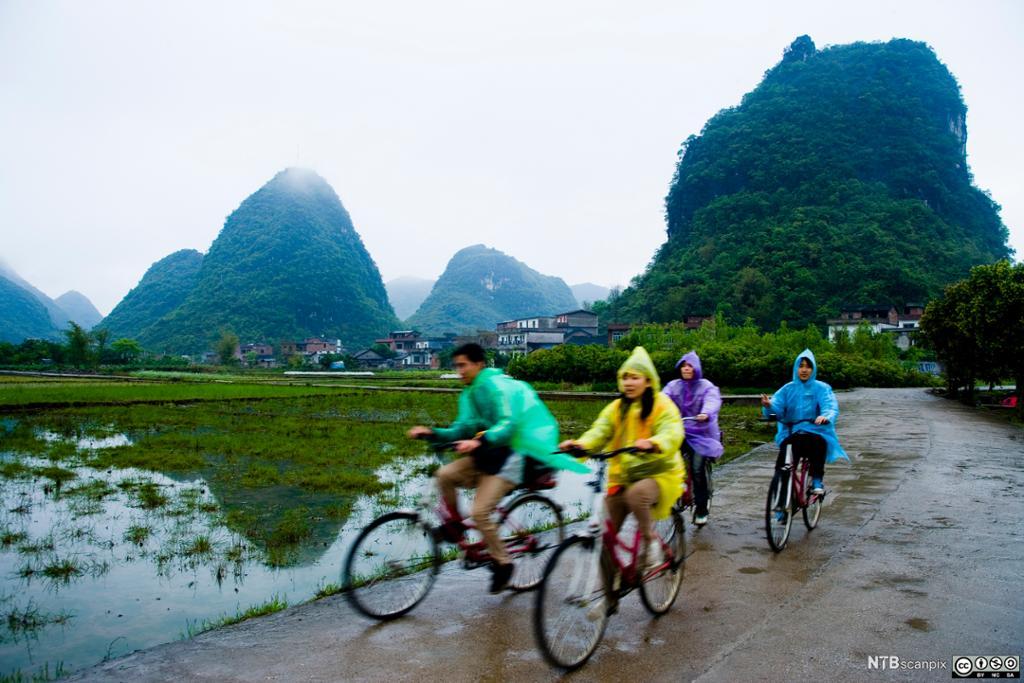 Turister på sykkeltur