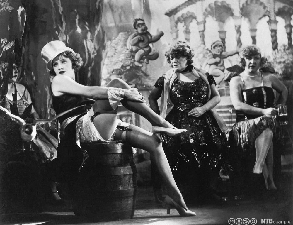 Marlene Dietrich i filmen Der blaue engel (1929)