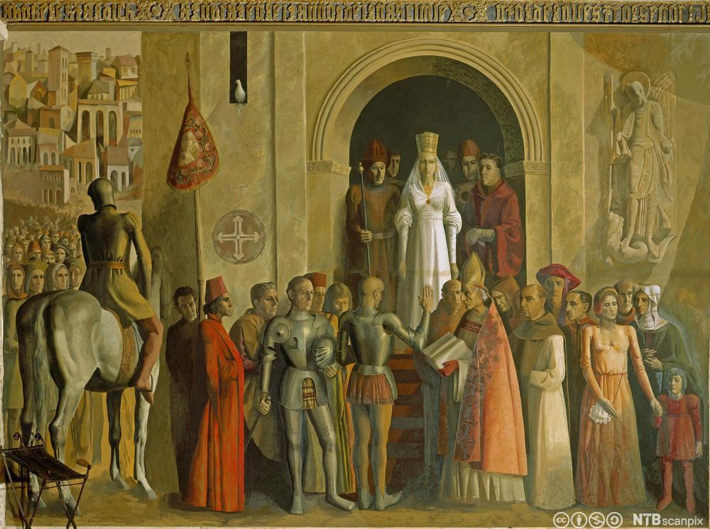 Maleri av Isabella av Castillas kroning