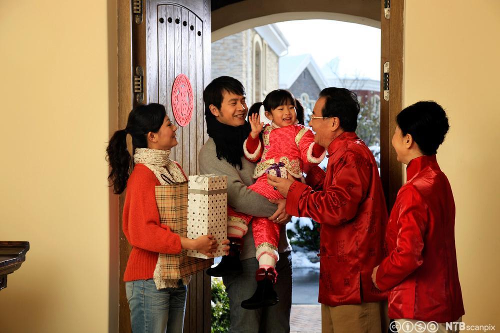 Kinesisk familie. Foto.