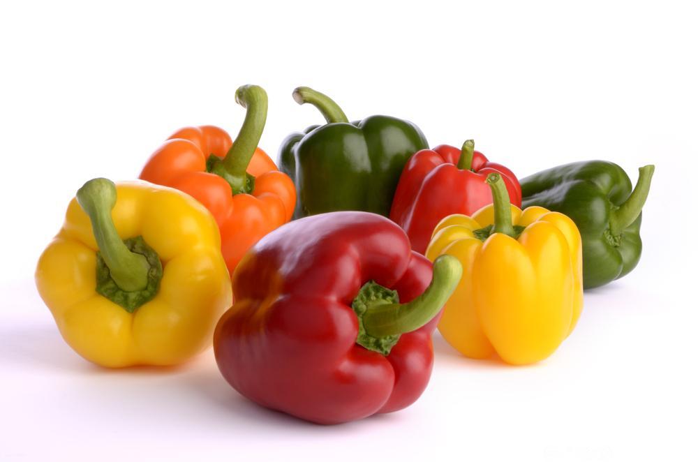 Paprika i ulike farger. Foto.