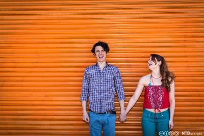 Kjærester som leier. Foto.