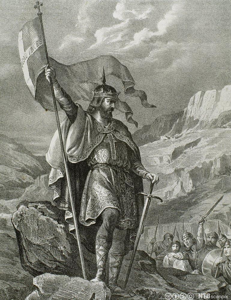 Maleri av Pelayo, visgotisk adelsmann som skal ha grunnlagt de første kristne riket på den iberiske halvøya