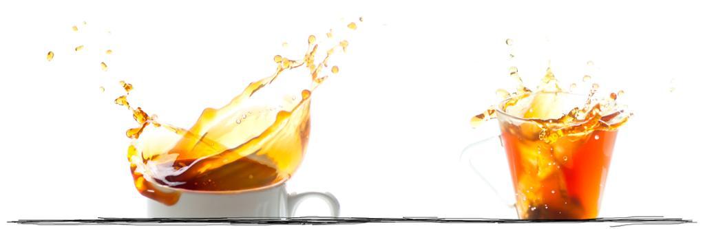 Kaffekopper skvulper. Bildeutsnitt.
