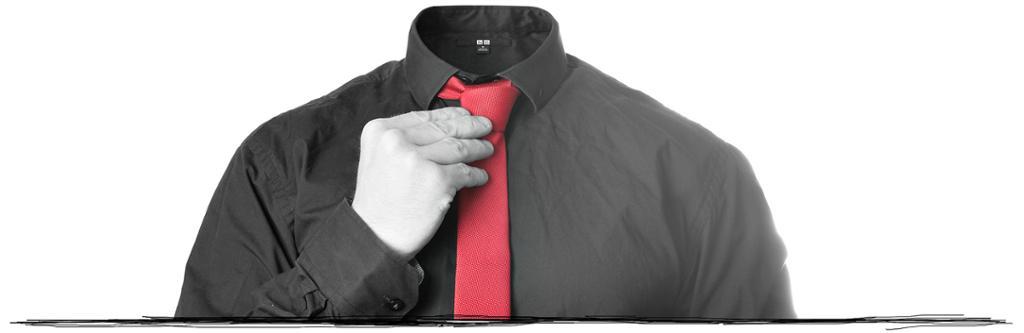 Skjorte og slips. Bildeutsnitt.