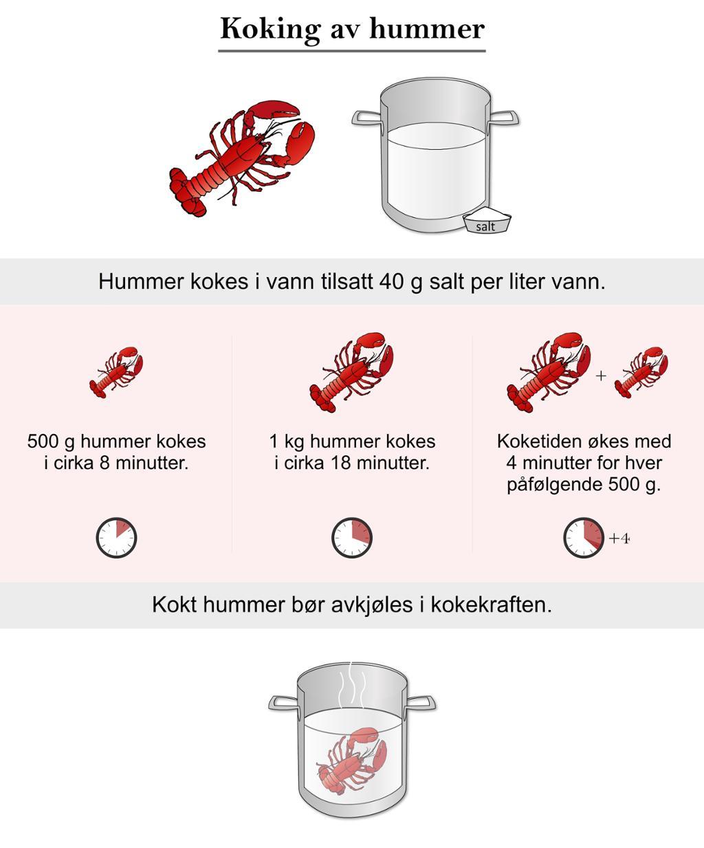 Koking av hummer