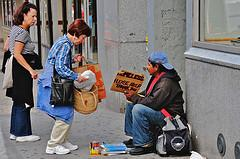 Helping the Homeless. Photo.