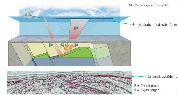 2D seismikk med geologisk illustrasjon. Illustrasjon.