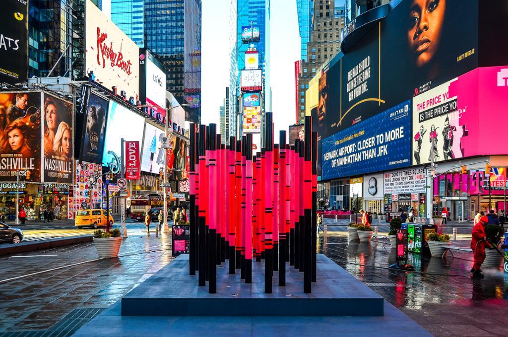 Hjertet på Times Square. Foto.