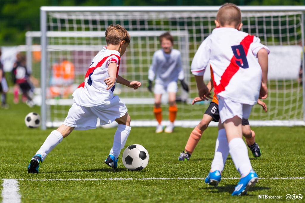 Fotballtrening. Foto.