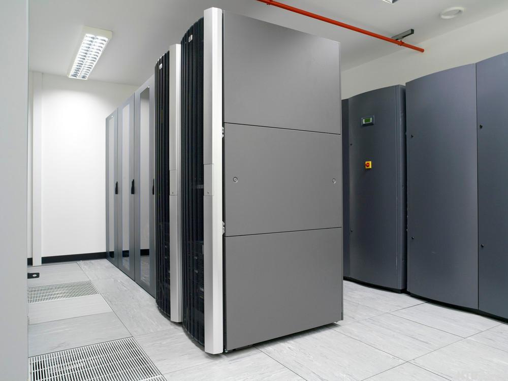 Stort serverrom. Foto
