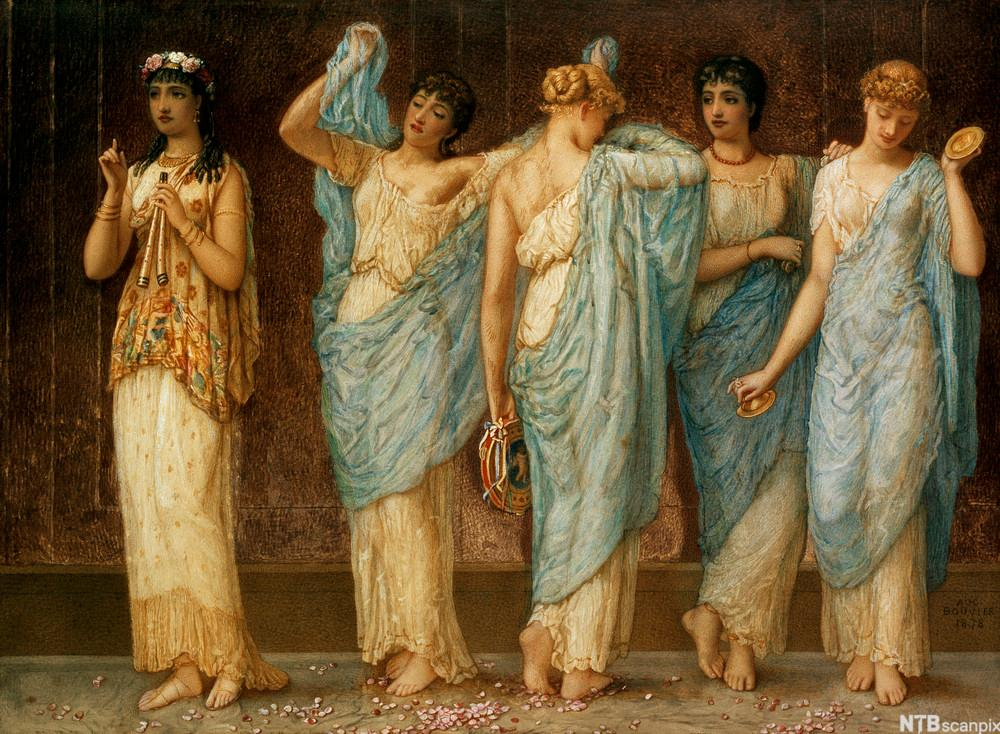 Ready for the Dance av Augustus Jules Bouvier. Maleri.