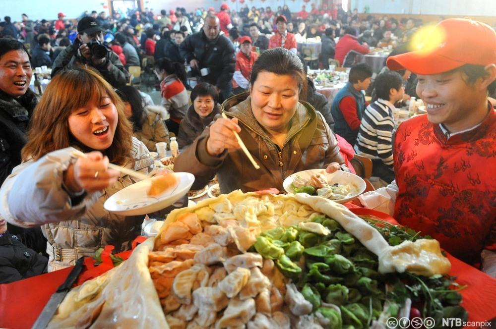 Dumplingfestival i Beijing. Foto.