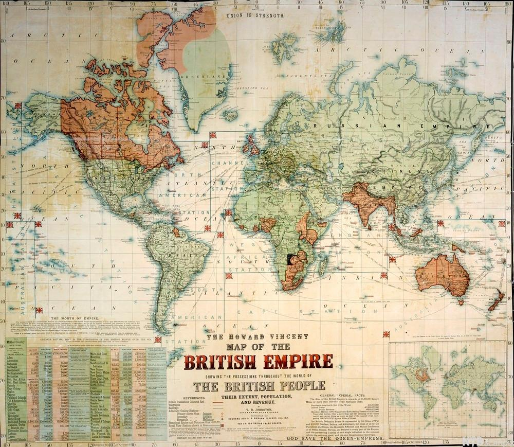 The Howard Vincent map of the British Empire