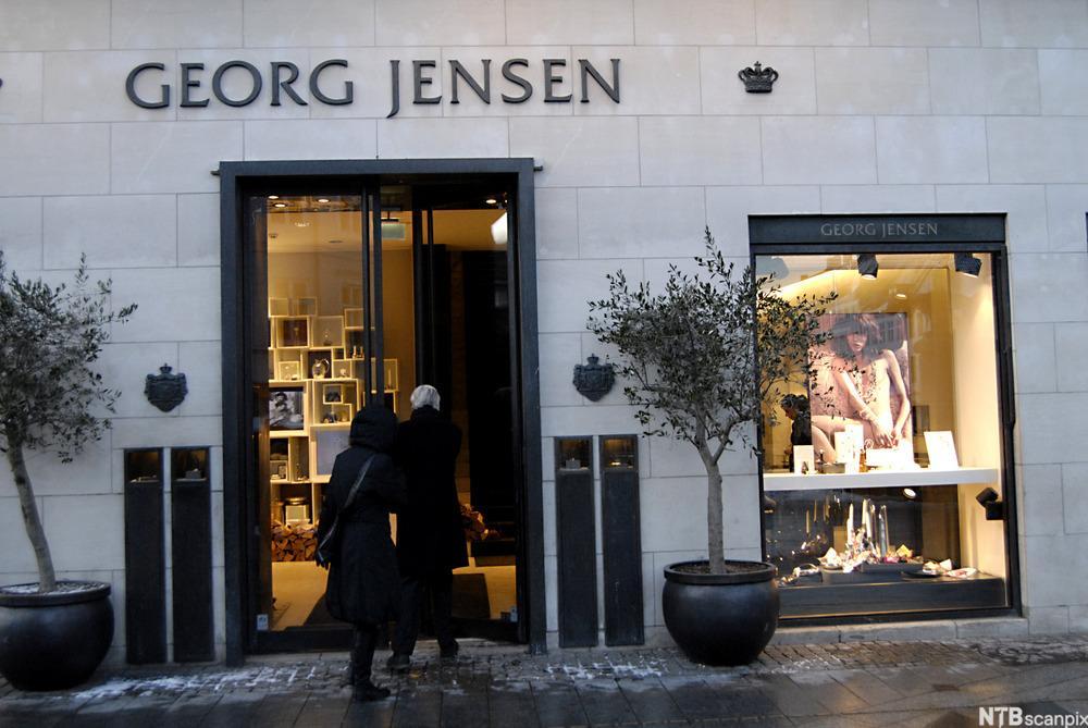 Inngangspartiet til ein Georg Jensen-butikk. Foto