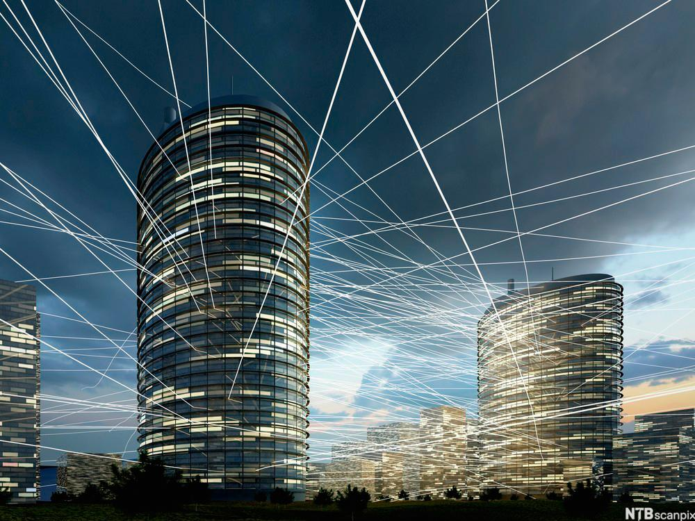 signaler mellom bygninger