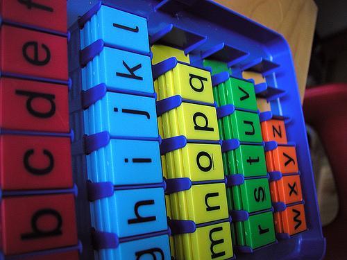 Spelling. Foto.