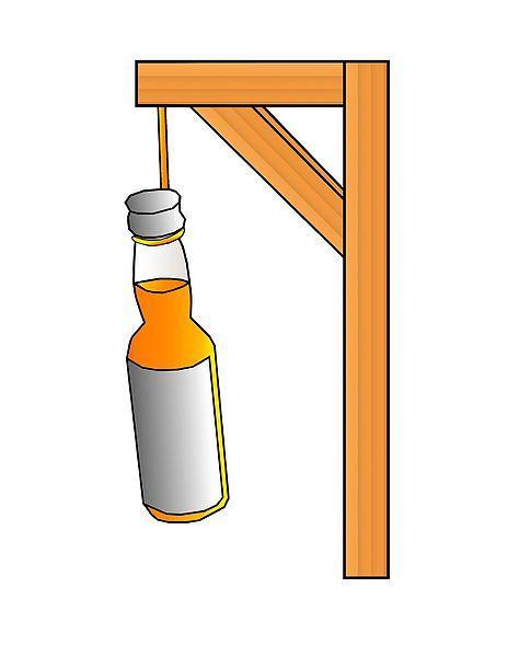 Alkoholisme. Foto.