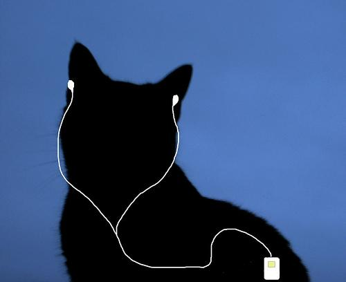 Ipod cat. Illustrasjon.
