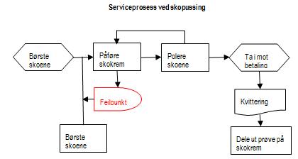 Serviceprosess ved skopussing