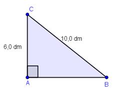 Rettvinklet trekant. Illustrasjon.