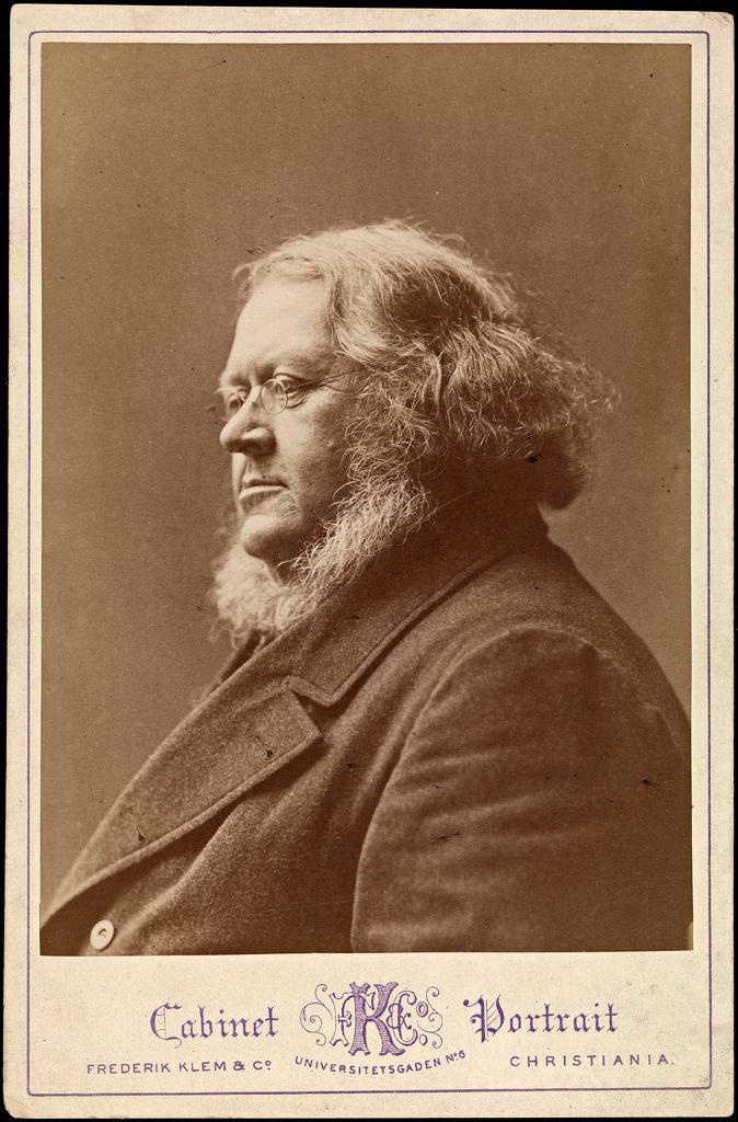 Portrett av Peter Christen Asbjørnsen, ca 1875