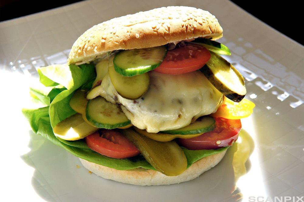 Foto av osteburger.