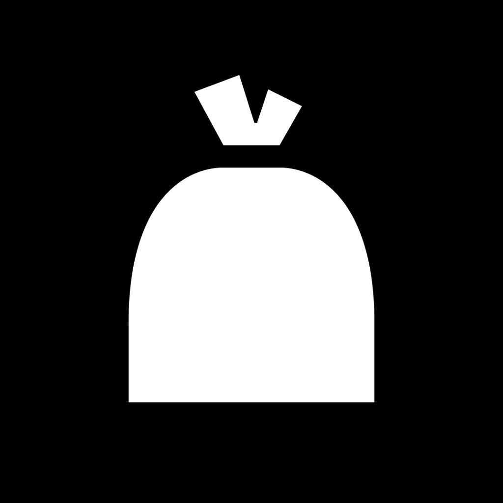 Emballasjemerke for restavfall. Piktogram.